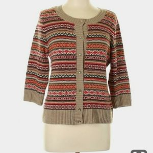 Talbots Petite Wool Blend Button Front Cardigan SP